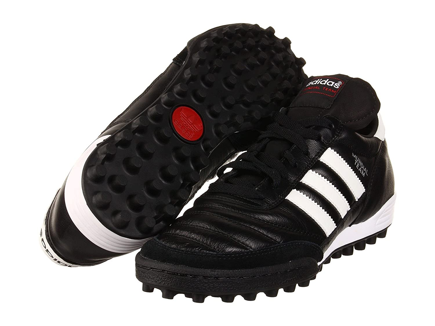 (アディダス) adidas メンズサッカーシューズ靴 Mundial Team Black/White Men's 8, Women's 9 (26cm) Medium B07BQK9PWZ