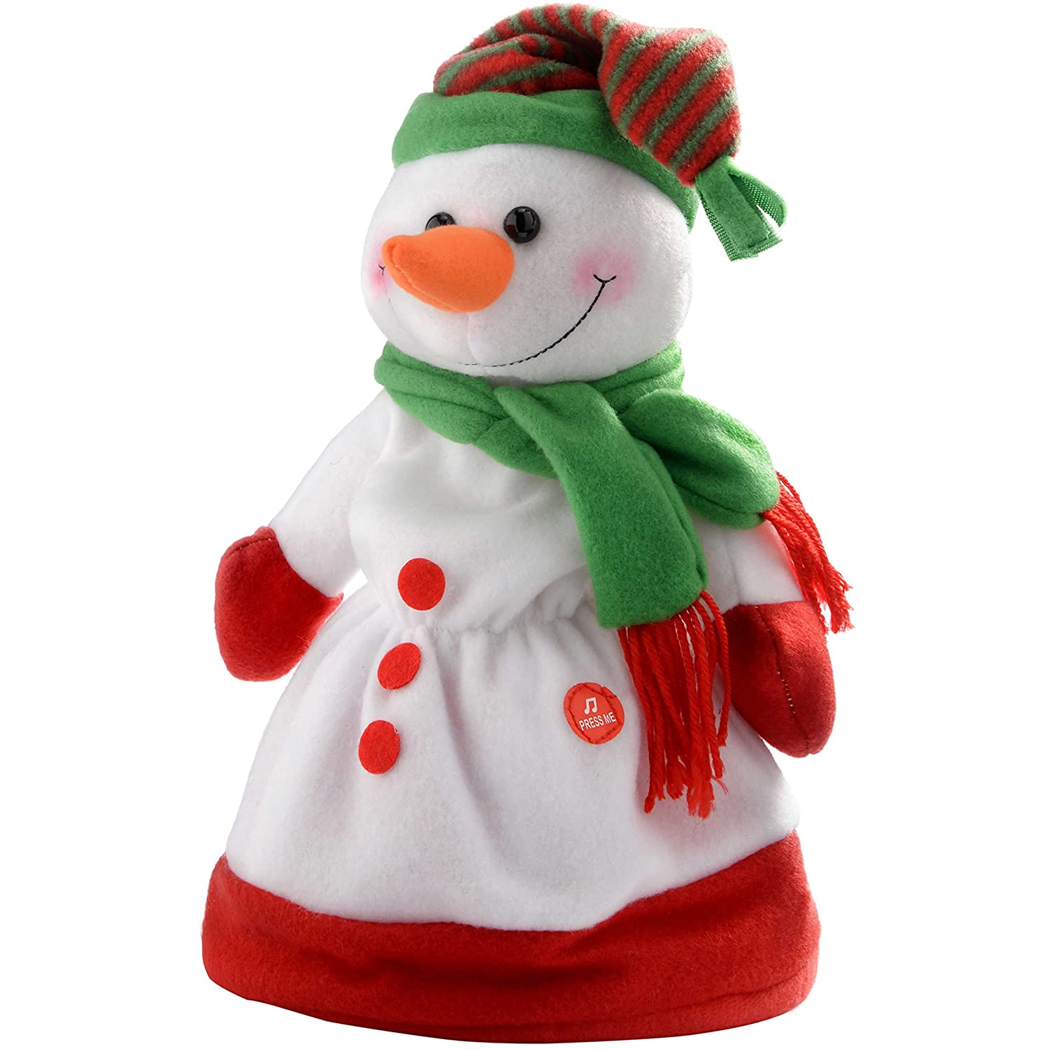 standing snowman decoration holiday plush decorations christmas decor seasonal homcom free