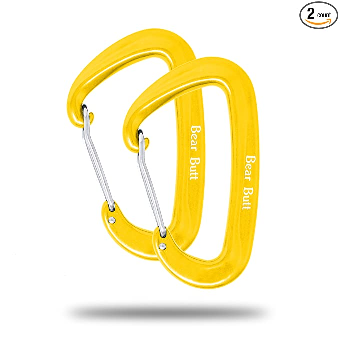 Bear Butt Aluminum Wire Gate Carabiner – The rust-free carabiner