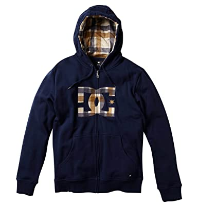 1d36ae3ef DC Men's Scourge Full Zip Hoodie, Navy, Large: Amazon.in: Clothing ...