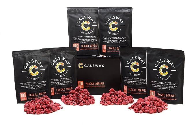 Paquete de 6) 100 Calorías FRAMBUESAS FRÁGILES de Calsway ...