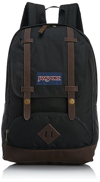 Amazon.com: JanSport Unisex Cortlandt Backpack Black Backpack ...