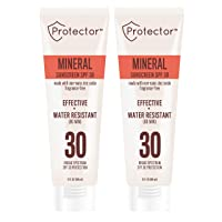 Protector Mineral Sunscreen Lotion with Broad Spectrum SPF 30, Zinc Oxide and Water-Resistant Protection, 3-ounces (2-Pack)