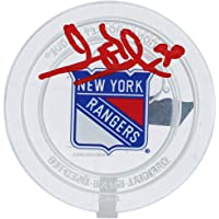 $249 » Henrik Lundqvist New York Rangers Autographed Crystal Puck - Filled with Ice from the 2019-20 Season - Autographed NHL Pucks