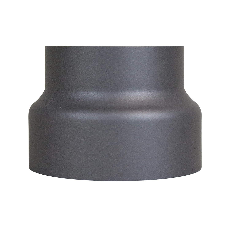 LANZZAS Rauchrohr Ofenrohr Reduzierung /Ø 180 mm auf /Ø 150 mm in grau Kaminofen Rohr Ofenrohrreduzierung
