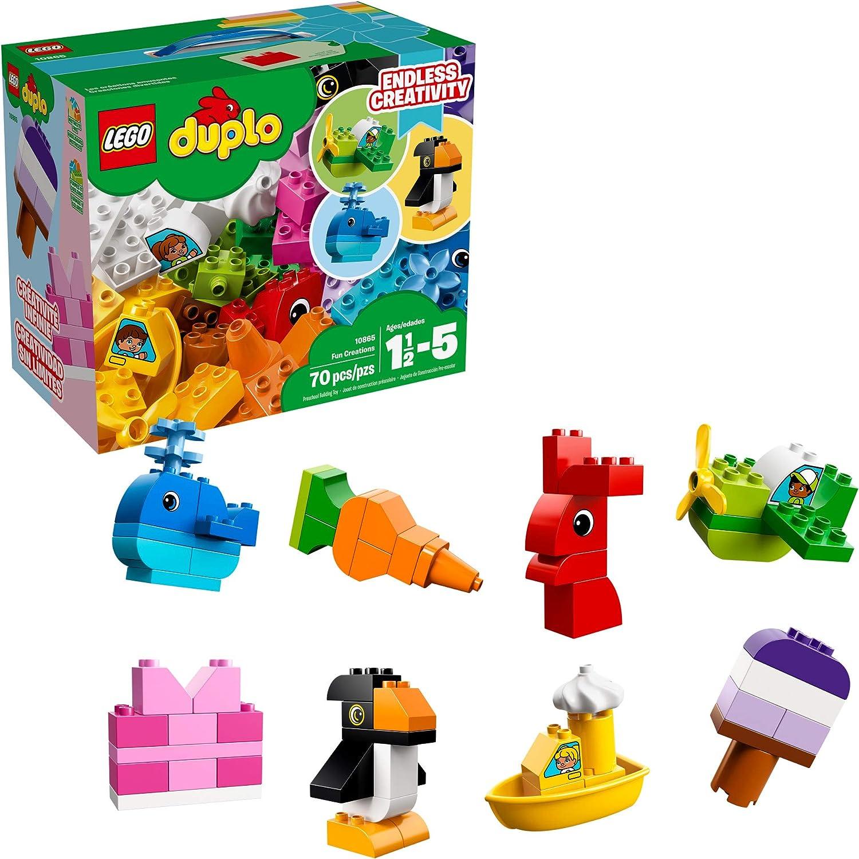 Amazon.com: LEGO DUPLO Fun Creations 10865 Building Blocks (70 ...