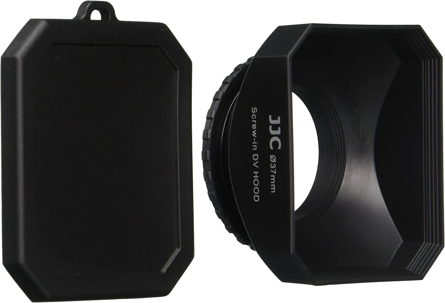 JJC DV37 37mm Lens Hood with Cap for Digital Video DV Camcorders