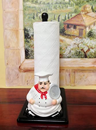 Deco 79 Poly-Stone Chef Paper Towel Holder 6 by 13,