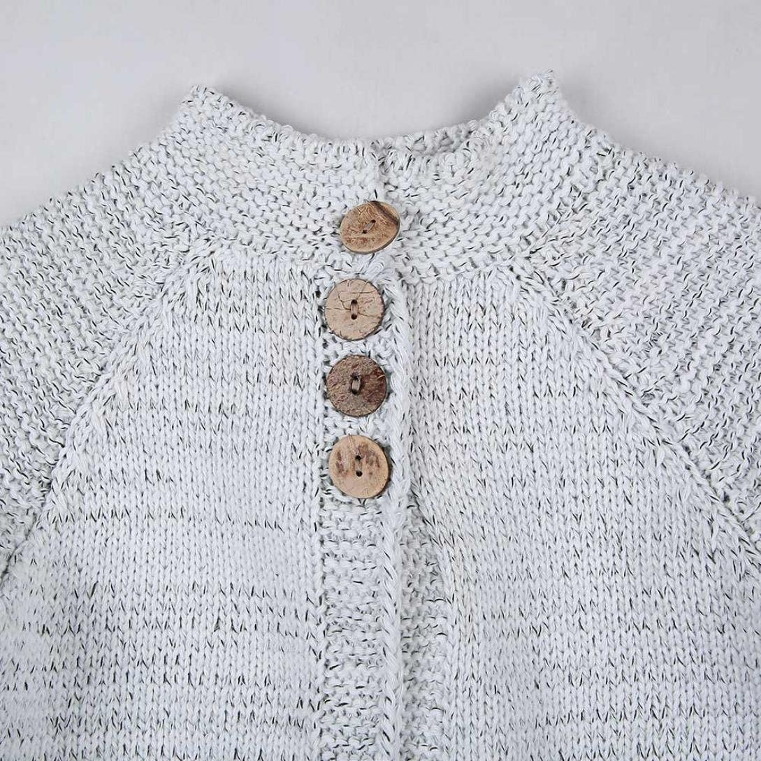 Creazy Toddler Kids Baby Girls Outfit Clothes Button Cardigan Coat Tops Knitted Sweater