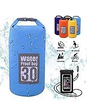 Dry Bag,5L,10L,15L,20L,30L,wasserdichte Tasche,Wasserdichter Packsack,Wasserdichte Beutel mit Wasserdichter Handybeutel,Für Ruder,Boot und Kajak,Rafting Angeln