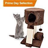 Animals Favorite Cat Condo Perch, Cat Tree with Scratch Post for Small Cats and Kittens