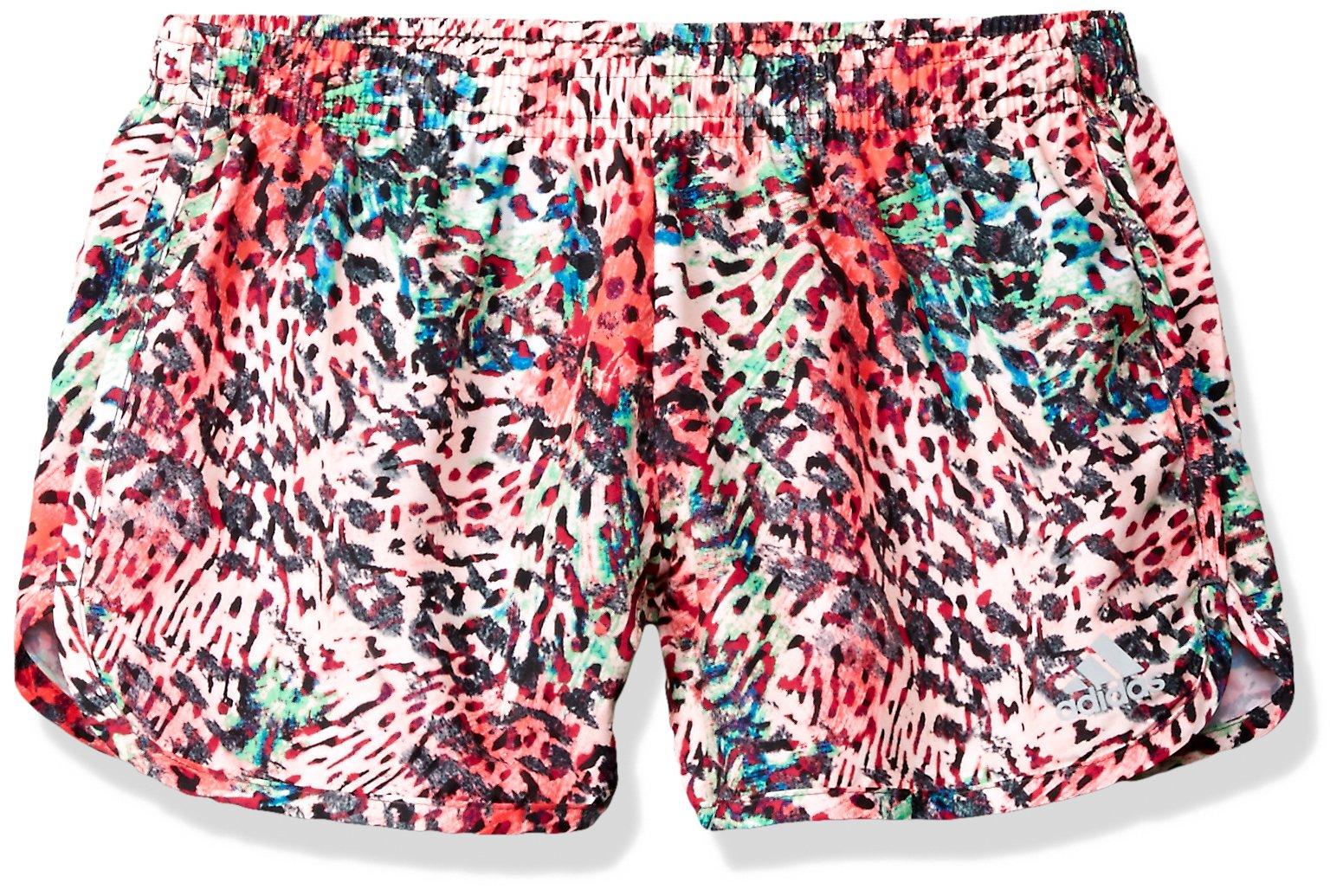 adidas Big Girls' Athletic Shorts, Splash Print, Medium