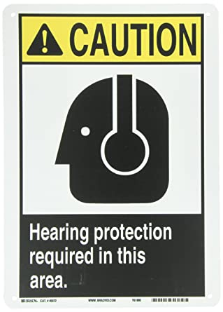 EYE PROTECTION MUST BE WORN IN THIS AREA EYE PROTECTION MUST BE WORN IN THIS AREA 14 Length x 10 Height Rigid Plastic NMC C484RB OSHA Sign Legend CAUTION 14 Length x 10 Height Black on Yellow Legend CAUTION