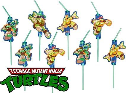 8 pajitas * Teenage Mutant Ninja Turtles * para una fiesta ...