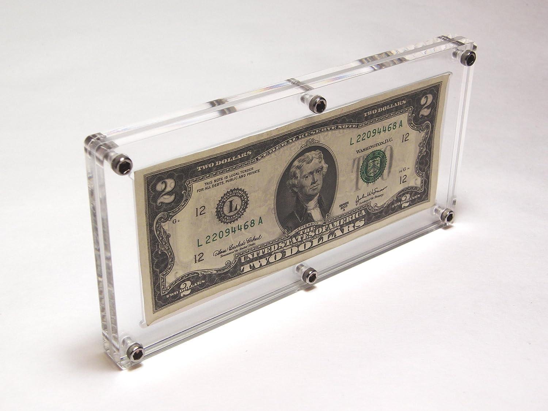 Amazon.com: Acrylic Single US Bank Note Frame Plastic Money Holder ...