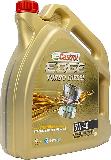 Castrol 55275 Edge Diesel Turbo Diesel 5w 40 Motorenöl 5l Auto