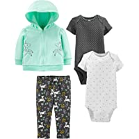 Simple Joys by Carter's 4-Piece Fleece Jacket, Pant, and Bodysuit Set Bebé-Niñas