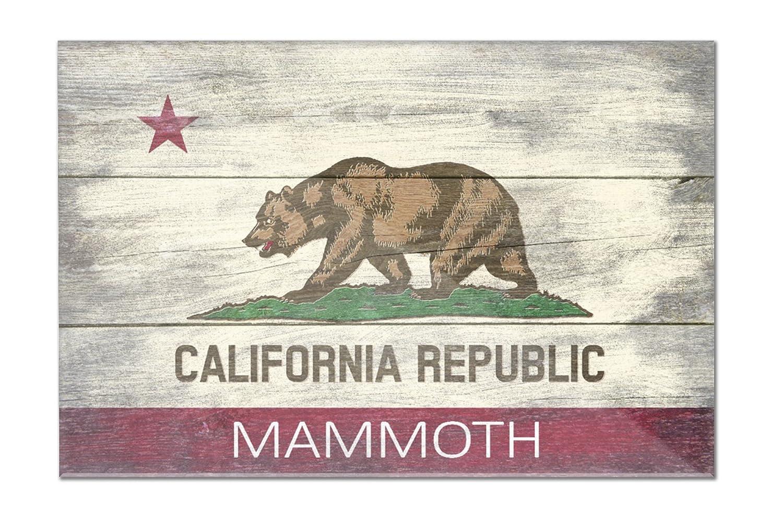 Mammoth、カリフォルニア – 素朴なCalifornia State Flag 36 x 24 Acrylic Hanging Wall Decor LANT-3P-AC-WD-75085-24x36 36 x 24 Acrylic Hanging Wall Decor  B01N8ZKROM