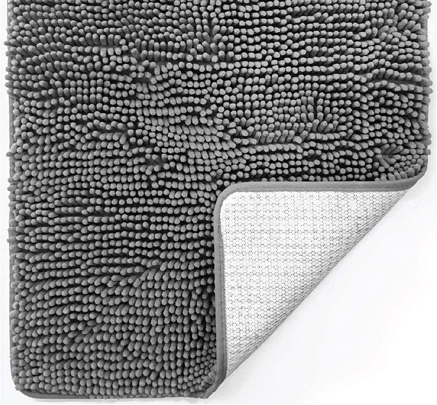 Gorilla Grip Original Luxury Chenille Bath Rug Mat, 42x24, Extra Soft and Absorbent Large Oval Shaggy Bathroom Rugs, Machine Wash Dry, Plush Carpet Mats for Tub, Shower, and Bath Room, Emerald