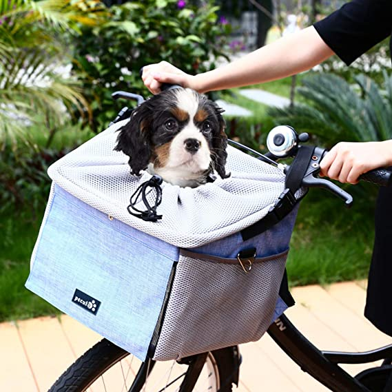 Pecute Portador de Viaje Mochila Bolsa de Transporte para Mascotas Perros Gatos con 4 Funciones-Usar para Coches y Bicicletas, Usar como Mochila Bolsa al ...