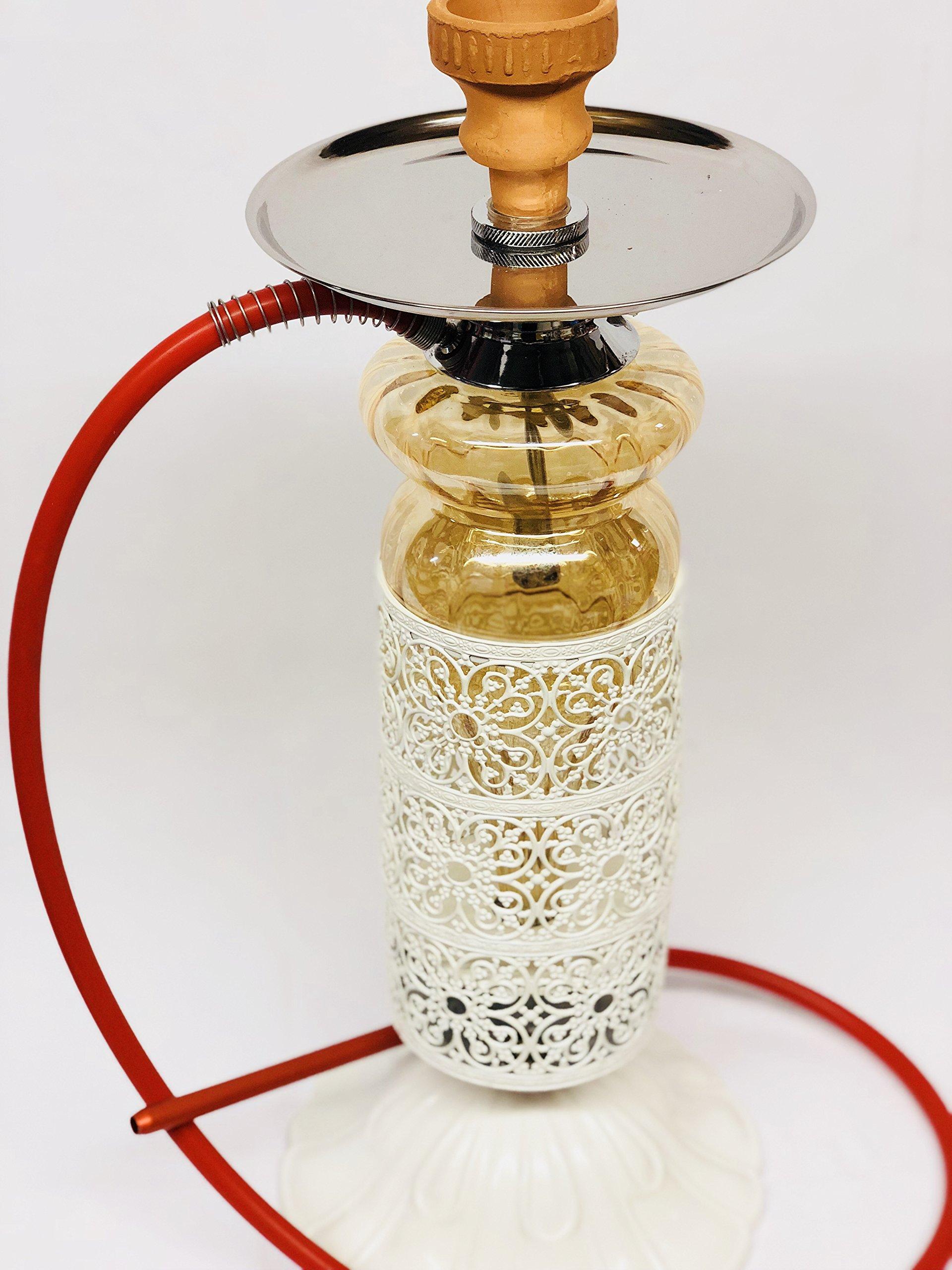20'' Flower Hookah Full Set White Shisha