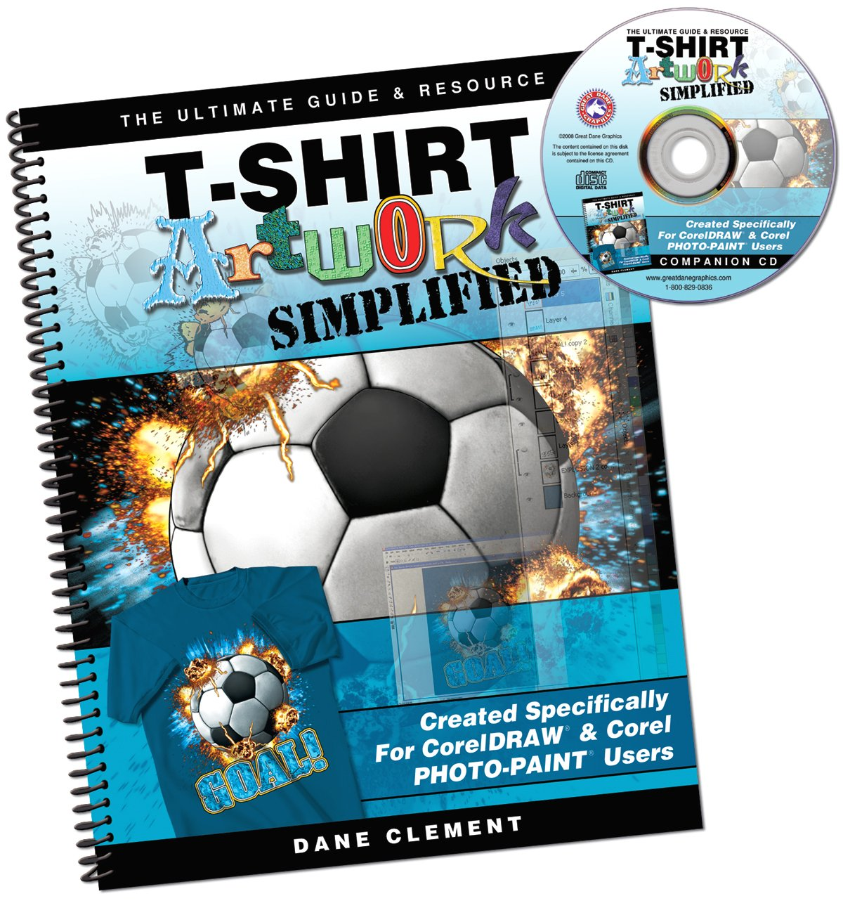 T shirt artwork simplified for coreldraw photo paint users dane t shirt artwork simplified for coreldraw photo paint users dane clement 9780982093511 amazon books baditri Image collections