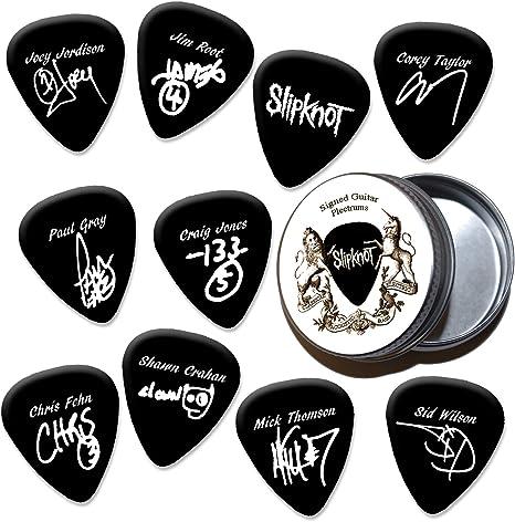 Slipknot Black Púas de guitarra con estaño Tin (HB): Amazon.es ...