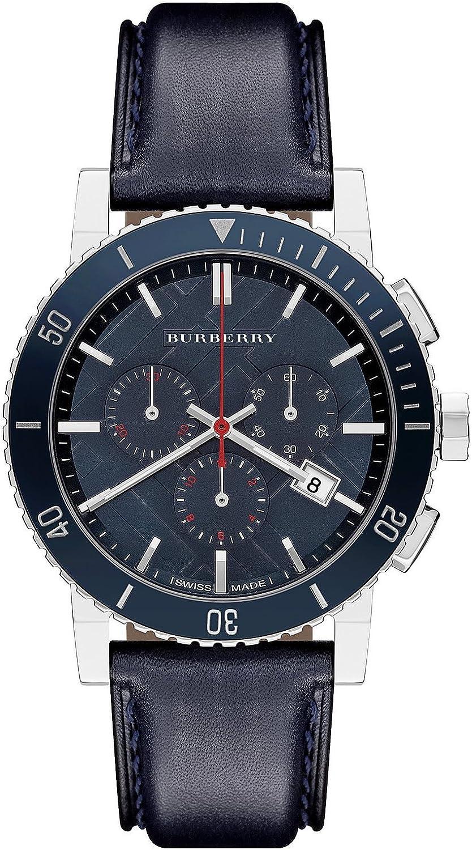 Burberry BU9383 Watch City Mens – Blue Dial Stainless Steel Case Quartz Movement