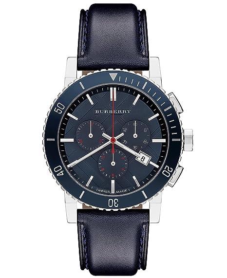 Amazon.com: Burberry BU9383 Watch City Mens - Blue Dial Stainless Steel Case Quartz Movement: BURBERRY: Watches