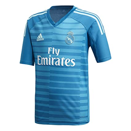 adidas Camiseta Real Madrid Portero Segunda Equipación 2018-2019 Niño Bold aqua-Unity blue