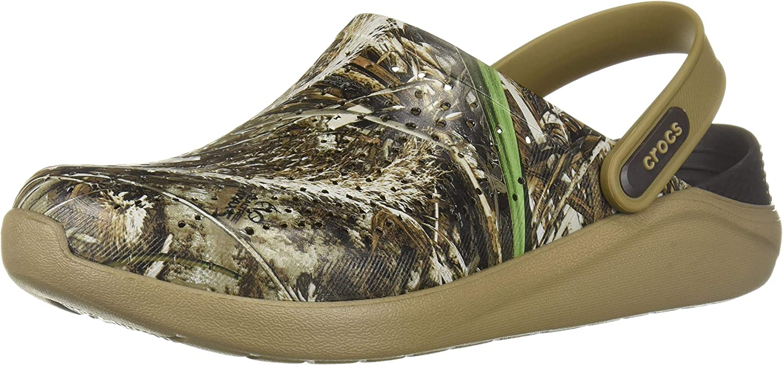 Crocs Men's and Women's LiteRide Realtree Max-5 Clog | Comfortable Camo Shoes
