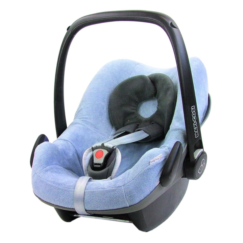 Bambiniwelt Sommerbezug Schonbezug Bezug Aus Frottee Für Maxi Cosi Pebble Babyschale Hellblau Xx Baby
