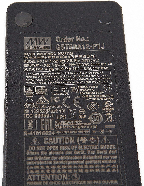 Unbekannt Mean Well Original Gst60a12 P1j 12v 5a Meanwell Gst60a 12v 60w Ac Dc Hohe Zuverlässigkeit Industrielle Adaptor Baumarkt