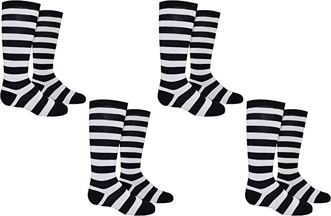 Rugby Socks Kids (Youth) Sports League - Striped Knee High Novelty Socks