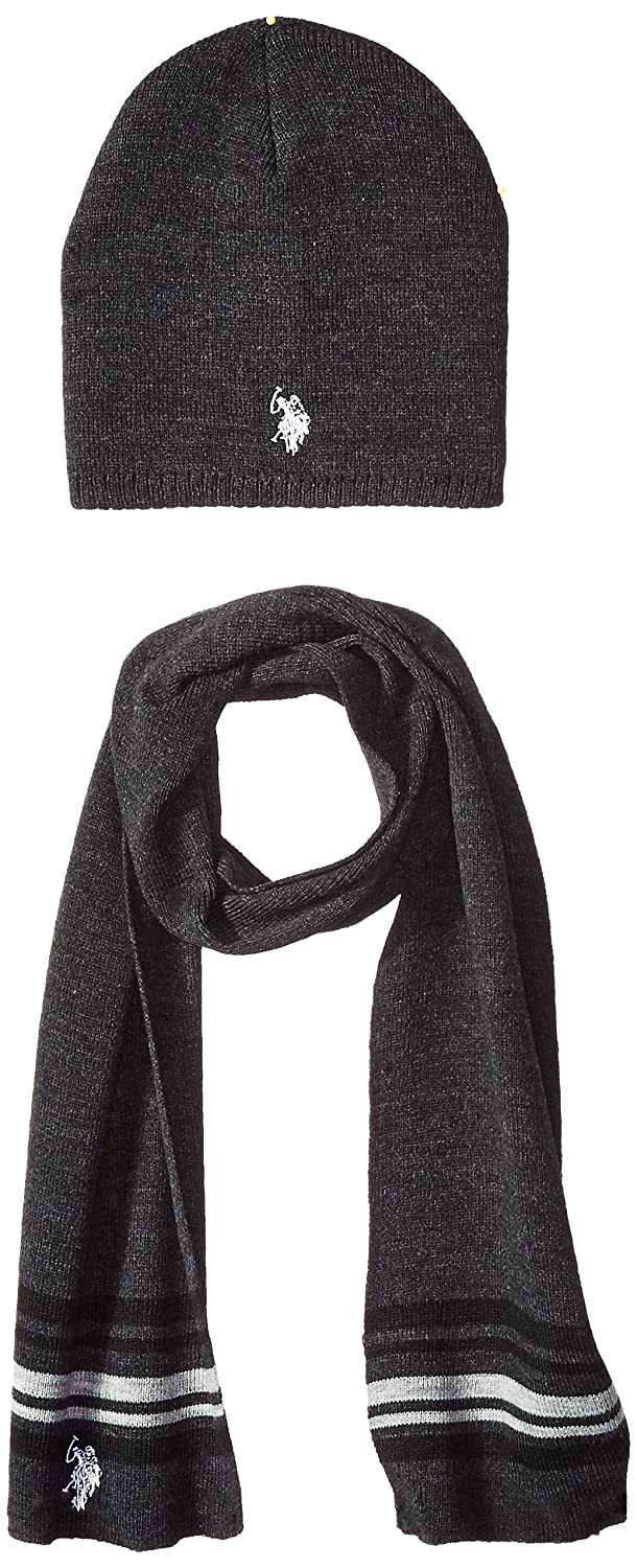 U.S. Polo Assn. Men s Mini Winter Beanie and Scarf Set e4f8a4f87df