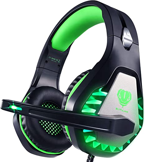 USB Gaming Headphone 7.1 Channel Headset with Mic Stereo Bass Earphone LED Light for PC Laptop