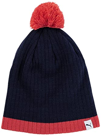a8fab188df8 Puma W s pom beanie bobble hat - Blue - One size  Amazon.co.uk  Clothing