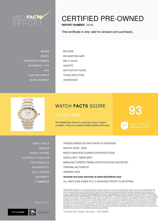 Amazon.com: Bvlgari 26MM Bvlgari Bvlgari 18K Rose Gold & Steel Watch BB33SLD (Certified Pre-Owned): Bvlgari: Watches