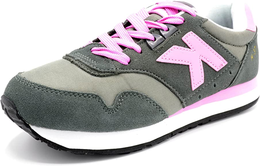 Kelme K-37 Grafito/Rosa - Zapatilla Retro Running (35): Amazon.es: Zapatos y complementos
