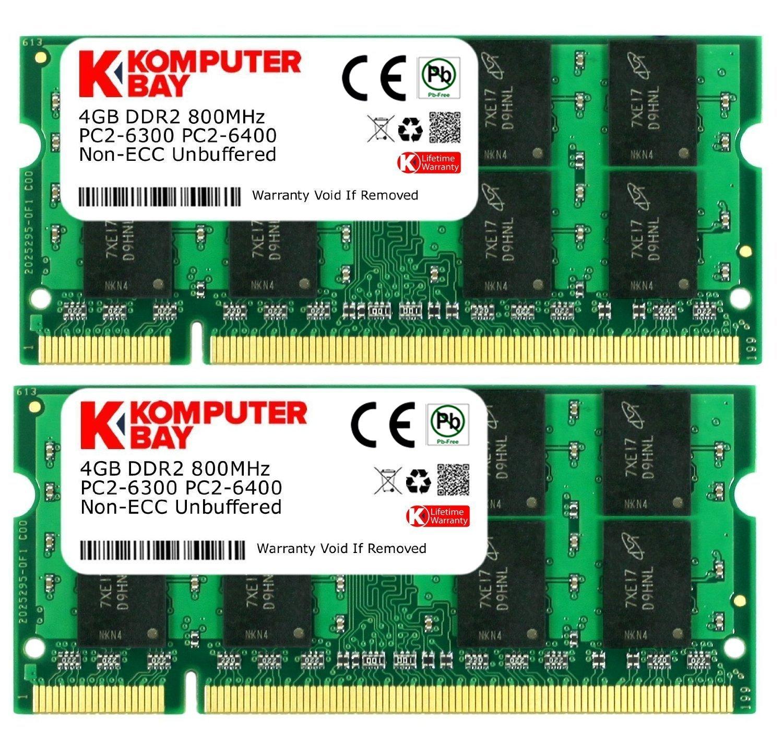 Memoria Ram 8 GB (2 x 4GB) PC2-6400 DDR2-800 SoDIMM