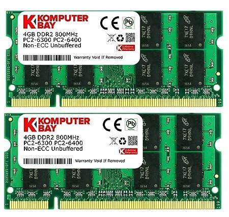 Komputerbay 8 GB (2 x 4GB) PC2-6400 DDR2-800 SoDIMM Dual Channel Laptop Memory Kit Memory at amazon