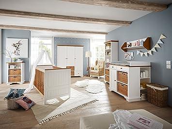 Massivum Julia Babyzimmer Holz Weiss 57 X 162 X 192 Cm Amazon De