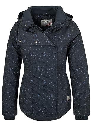 Sublevel Damen Jacke mit Allover Herzchenprint und Kapuze  Amazon.de   Bekleidung d563837b62