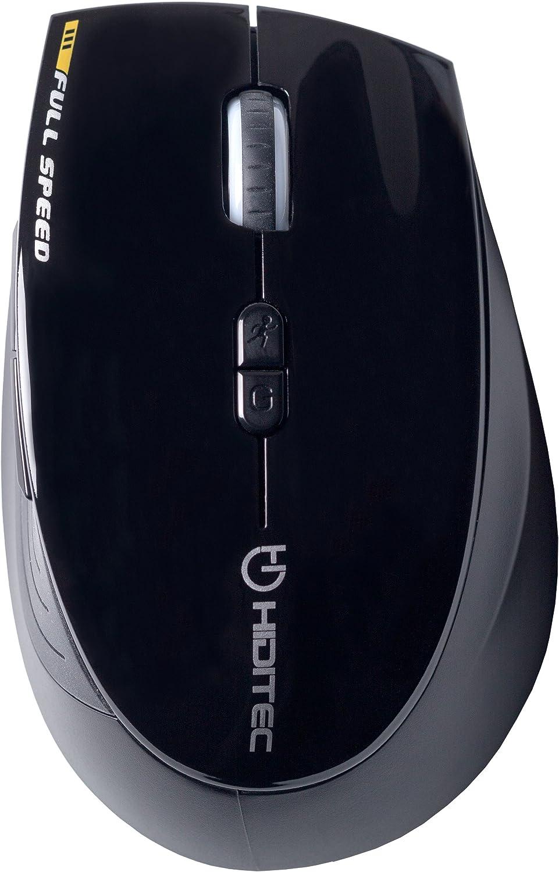 Hiditec   Ratón Inalámbrico DENDRO   Sensor AVAGO 2.000 dpi   Mouse Sin Cables Programable para Portátiles y PC de sobre Mesa   Incluye Garantía de 2 años   Tecnología OMRON   Sistema Touch ON