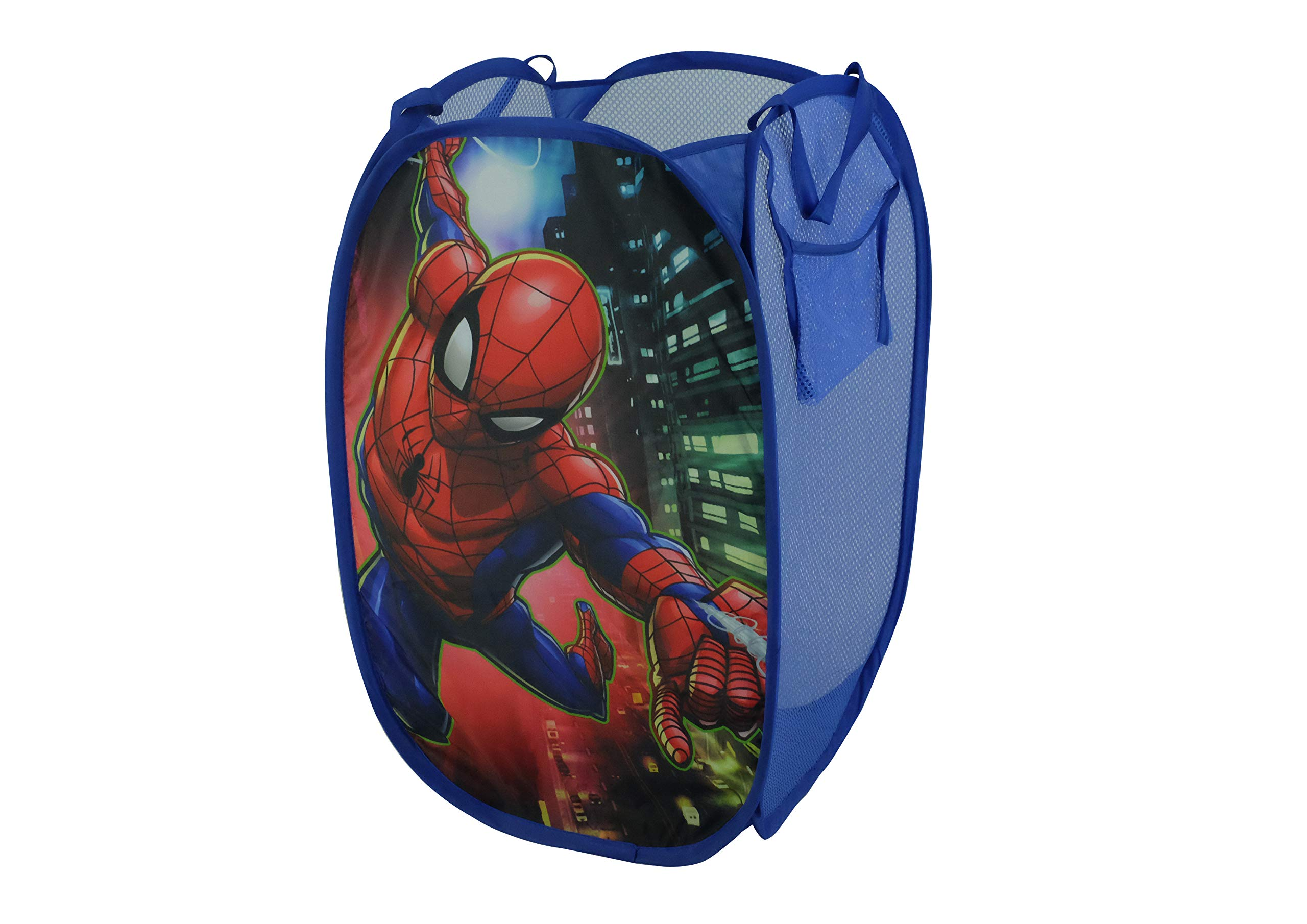 Marvel Spiderman Pop Up Laundry Bin, Red by Disney