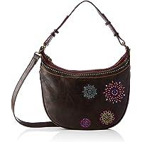 Desigual Accessories PU Shoulder Bag, Bolso bandolera. para Mujer, marrón, U