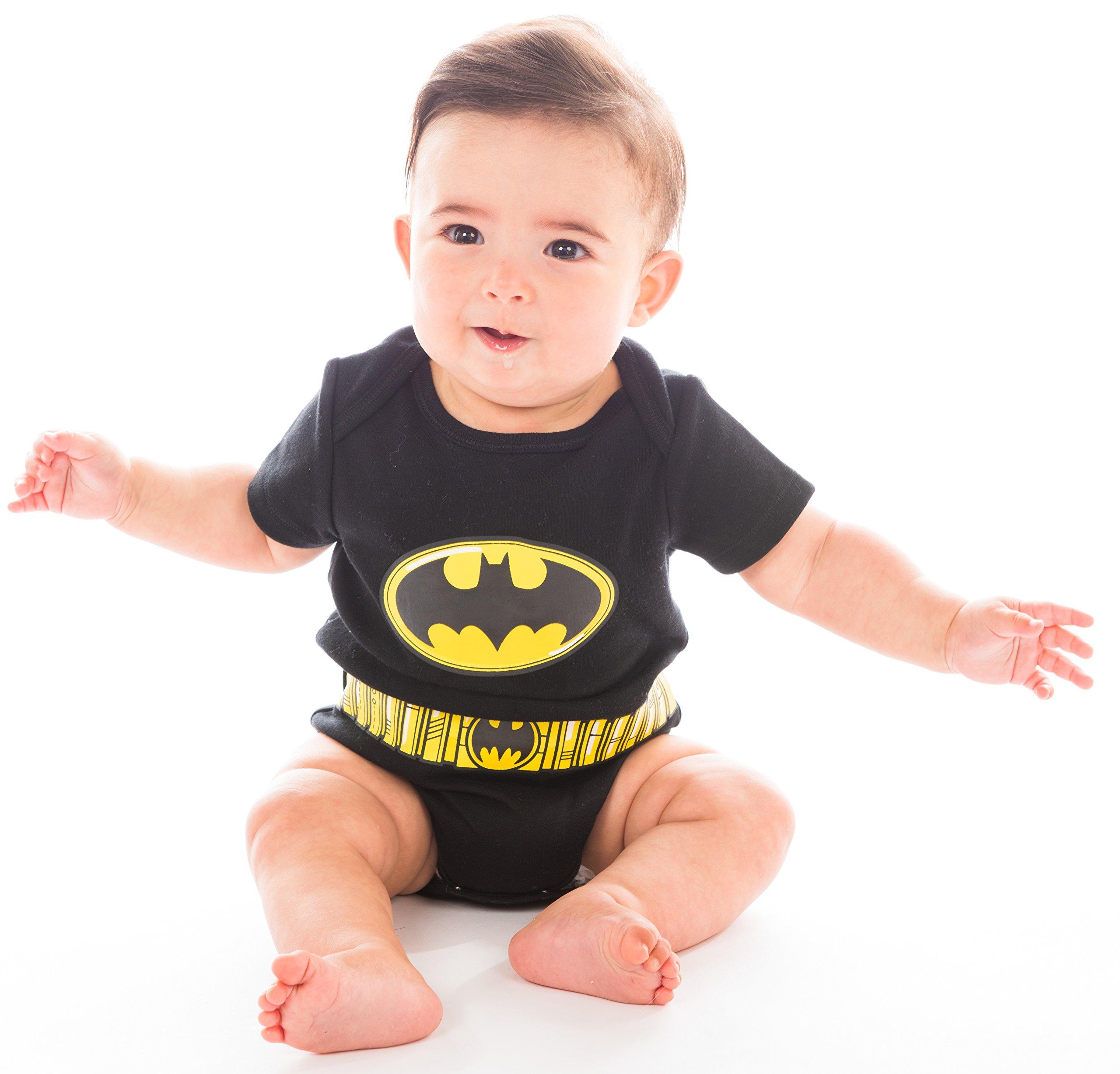 Justice League Baby Boys' 5 Pack Superhero Onesies - Batman, Superman, The Flash and Green Lantern (6-9M) by Warner Bros. (Image #7)