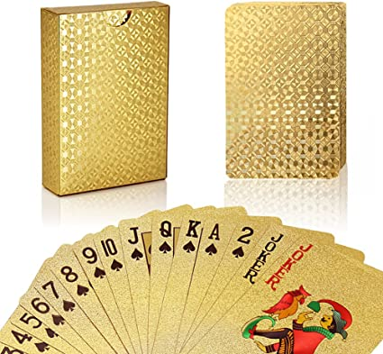 24k Gold Silver Playing Cards Poker Magic Decks 54 Card Casino Gift