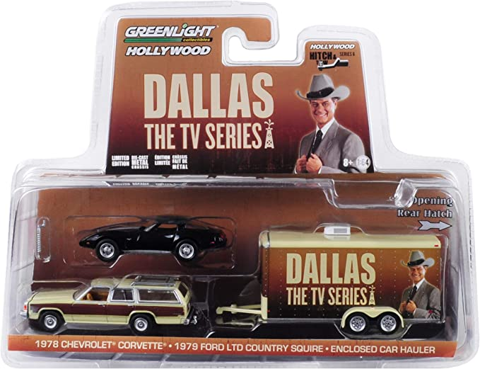 GreenLight Hitch and Tow Hollywood Serie 6 Dallas Ford LTD Corvette