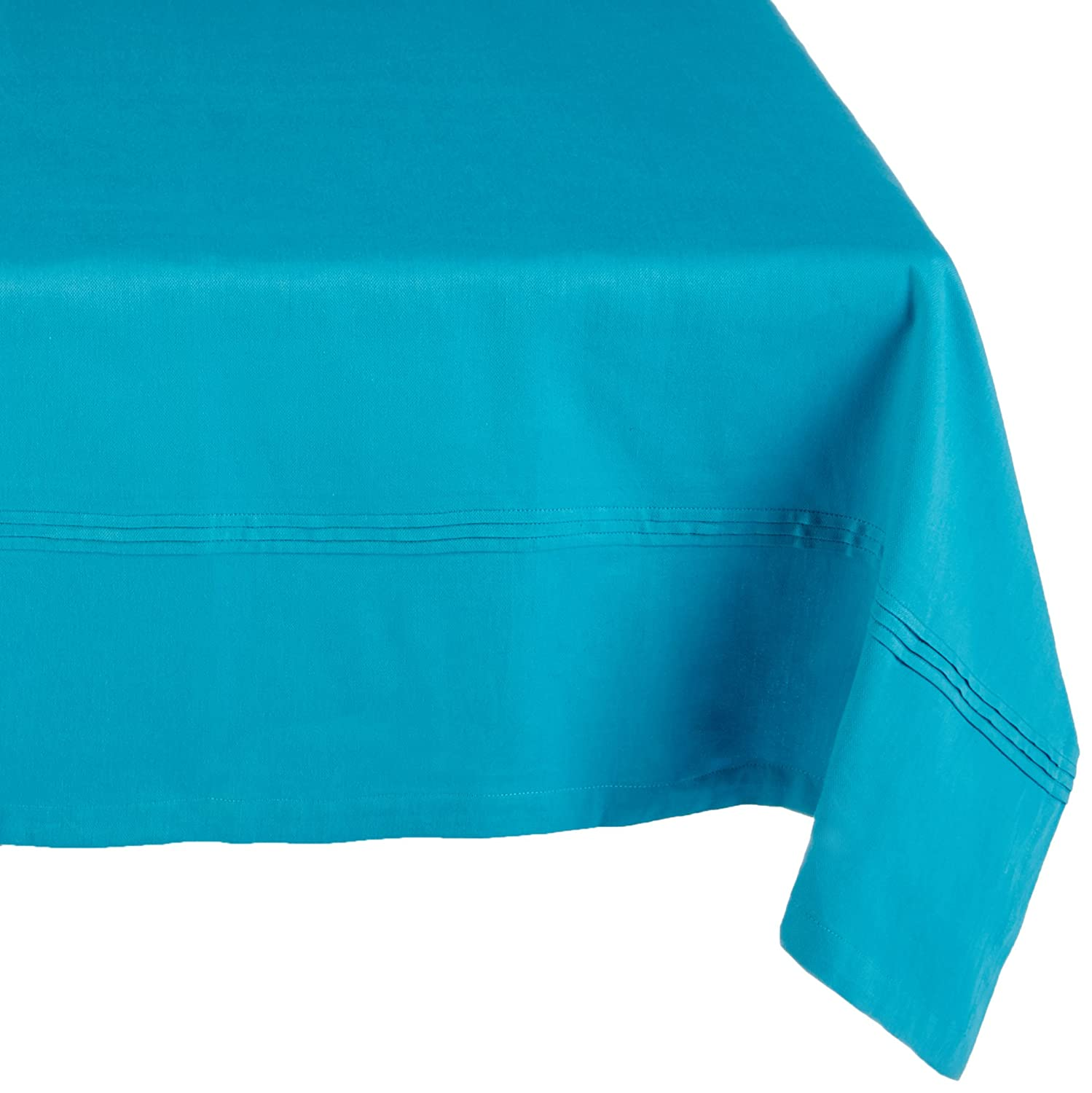Ladelle 42189 59 x 90-1//2 Pintuck Blue Tablecloth Small